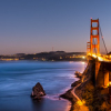 "Golden Gate Bridge at dusk • <a style=""font-size:0.8em;"" href=""http://www.flickr.com/photos/41711332@N00/15528808452/"" target=""_blank"">View on Flickr</a>"